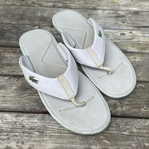 Lacoste Men's Size 13 Thong Sandals Flip Flops